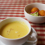 18907347 - コーンスープ&クリームコロッケ
