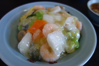 中華料理龍園 - 海老中華飯(¥580)安い、美味い!綺麗~