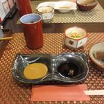 ひのき - ゴマダレ、ぽん酢、胡麻。