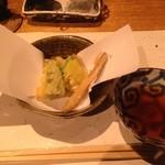 豆腐懐石 くすむら - ズッキーニと豆腐の天麩羅