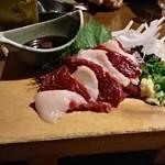 茅ヶ崎 海ぶね - 馬肉の刺身