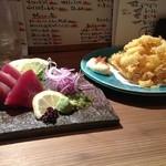 居酒屋まいど - 料理写真:鰹とスルメの天ぷら〜*\(^o^)/*