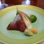 日本料理 竹善 - スズキとかつおのお造り