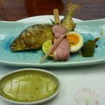 日本料理 竹善 - 鮎塩焼き