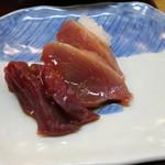 日本料理 松下 - 刺身(マグロ、カツオ)