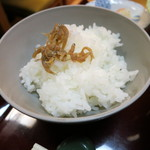 日本料理 松下 - 白米の上にジャコ