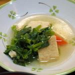 日本料理 松下 - 鶏つくねの煮物