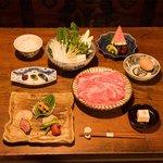 丹波谷 かくりゅう - すき焼きコース 7,000円