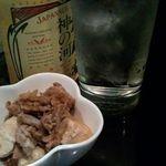 庄司 - 焼酎とすき焼き(お通し)