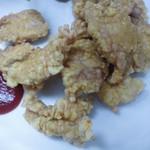 味来斉 - 肉の天ぷら