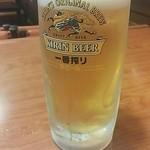 八千代味清 - 生ビール 550円