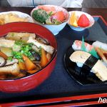 お米屋さんの寿司屋 桜 - しっぽくそばセット