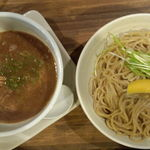 麺屋 中野 - つけ麺大(上方から)