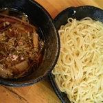 つけ麺道 五郎 - 麺とつけ汁(醤油)
