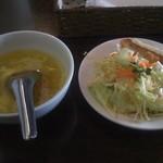 18933529 - スープとサラダ