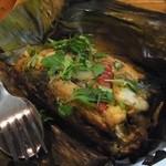 オリエンタルキッチン マリカ - バナナの葉の魚蒸し