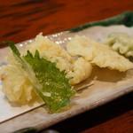 おおにし - 天ぷら(大葉・筍・しし唐・穴子・蛸)