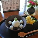 一石庵 - クリーム白玉ぜんざい ¥500