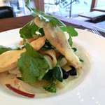 72cafe - 瀬戸内天然鯛のクリームソースのパスタ