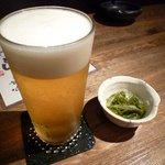 おでんとお酒 すっぴん - ビールとお通し