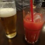 18941660 - ビールとブラッドオレンジジュース