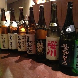 マニアックな日本酒、厳選焼酎など全国各地の地酒を揃えました