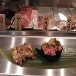 魚がし日本一 - 焼きゲソ+ねぎとろ納豆