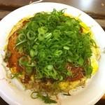 おゝ井 - あおい焼(950)はそば肉玉に大葉・イカ天入りだが