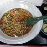 藤木食堂 - カレー入焼そば 650円