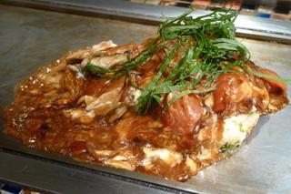 京ちゃばな~大地の恵み~ - トマトお好み《豚肉&モッツァレラチーズ》(\1,180、2013年4月)