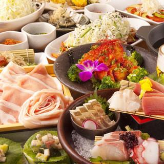 ご予算に合わせて多数のコース料理や食べ放題を御用意!