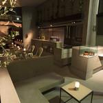 マーサーカフェ - 夜は雰囲気抜群の色気のある空間に。
