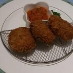 レストラン ロダン - 鹿児島産黒豚 ミンチカツセット 900円( ※セットメニューには、すべてライス・サラダ・スープがつきます。それらはすべておかわり自由)