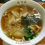 たつみ - ワンタンメン650円