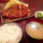 かつ政 - H25.05   ロースかつB定食(180g)¥1,350