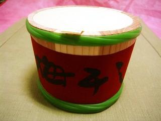 菊壽堂 - 本物の木樽に入ってます