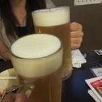 小虎 - 生ビールでcheers!