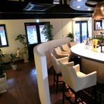 酪農Cafe Mou Mou Kitchen - Rのあるバーカウンター