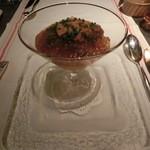 18962302 - 富山県産ホタルイカと生ウニ、広川農園季節野菜のムース1350円