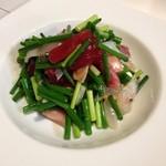 美味ひでき - 海鮮ネギサラダ、ネギ好きの方にオススメですよ。
