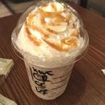 スターバックスコーヒー - ミロフラペチーノ バニラフラペチーノに キャラメル追加、チョコチップ追加 うひょーい!