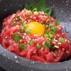 焼肉鍋問屋 志方 - 料理写真:厳選した素材のみ使用『ユッケ』