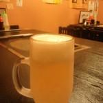 もんじゃ焼 うーちゃん - ビールはキンキン