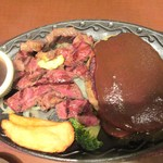 18966359 - カットステーキ&ハンバーグ☆1580円