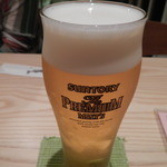 囲味屋-千駄木 - 生ビール サントリープレミアムモルツ
