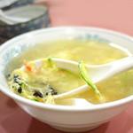 普天河 - サービスの玉子野菜スープ