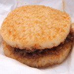 西仙北SA レストラン上線 - 『牛焼肉ライスバーガー』(300円)