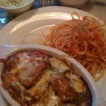 ヴィノ - 焼きカレー+ベーコンとバジリコのトマトソース(ランチセット)