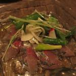 ラシーヌ - 静岡産アジのマリネ 春野菜のサラダを添えて