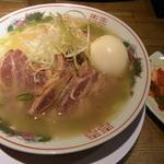 麺屋 中野 - 牛塩ラーメン+味玉